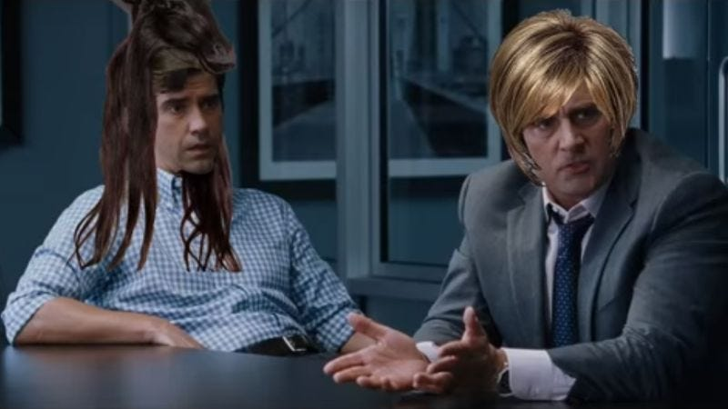 """Illustration for article titled """"The Wig Short"""" gives The Big Short even less believable fake hair"""