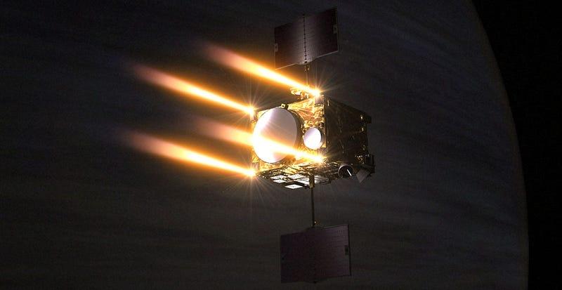 Illustration for article titled Una sonda espacial japonesa perdida durante cinco años regresa para estudiar Venus