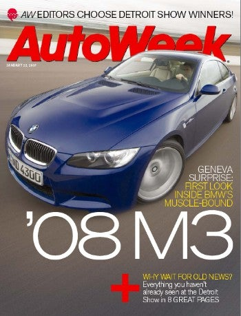 Illustration for article titled AutoWeek Gets Mileage from Fake M3 Pics