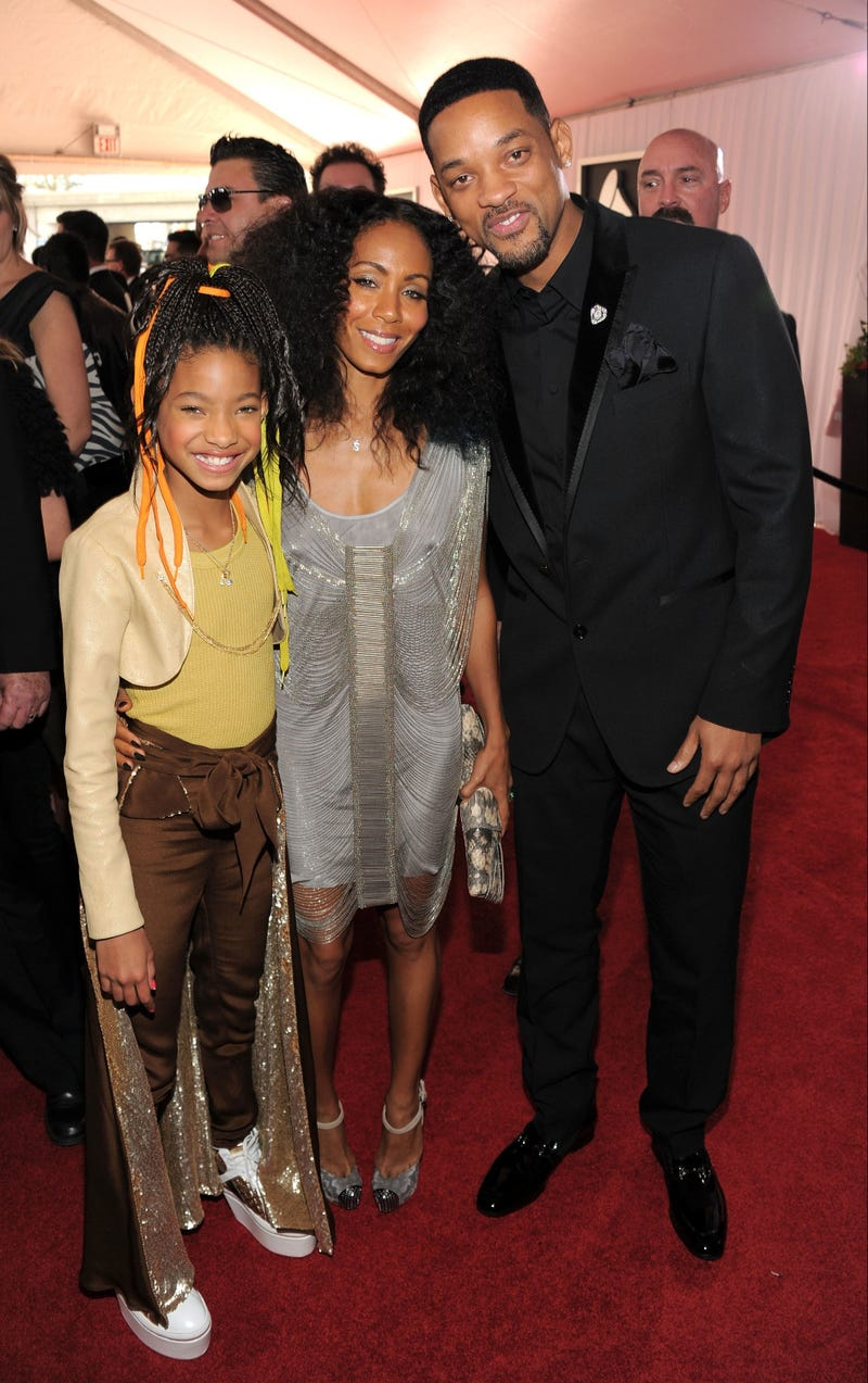 Willow Smith with her parents (Larry Busacca/Getty Images)