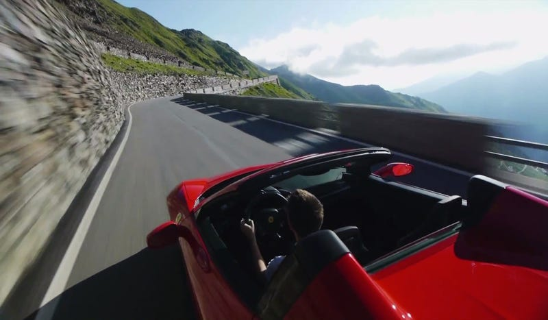 Illustration for article titled Driving The Ferrari 458 Spider On One Of The World's Curviest Roads