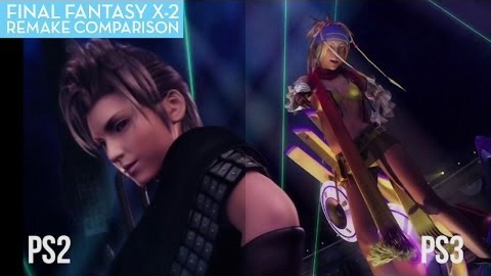 a final fantasy x 2 comparison hd vs sd. Black Bedroom Furniture Sets. Home Design Ideas