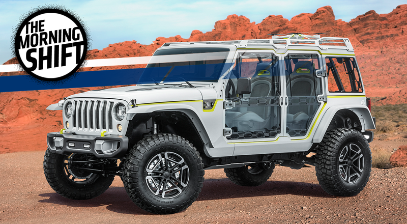 The Jeep Safari Concept, a preview of the upcoming Wrangler. Photo: Jeep
