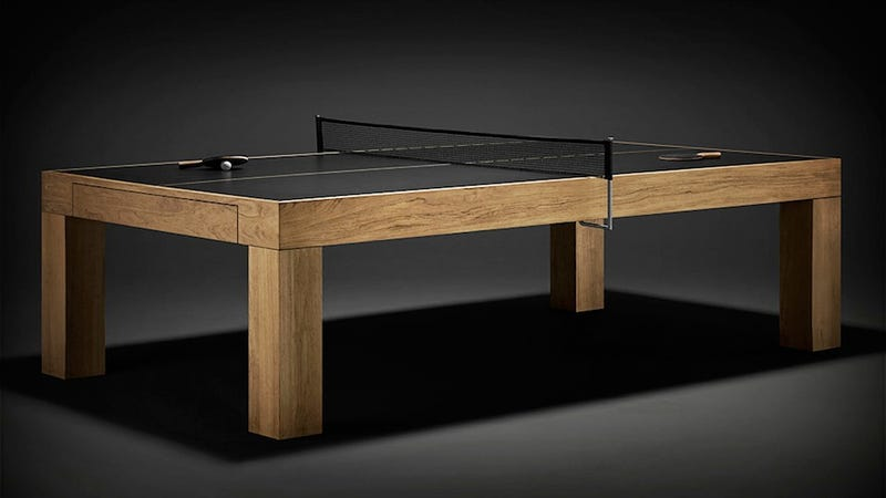Lovely Custom Made Paddles. Black Surface. This James Perse Designed, Regulation Ping  Pong Table Is The Perfect Rec Room Centerpiece In The Mid Century Modern  Home ...
