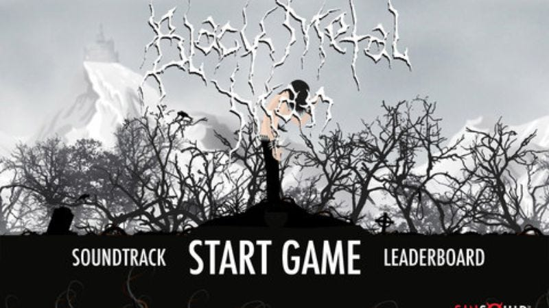 Illustration for article titled Black Metal Man blends 16-bit gaming action with Bathory and Burzum