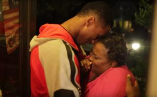 Rondae Hollis-Jefferson and his mother, Rylanda, on her birthdayYouTube Screenshot