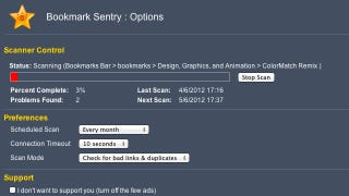 Illustration for article titled Bookmark Sentry for Chrome Cleans Up Your Bookmarks, Eliminates Bad Links and Duplicates