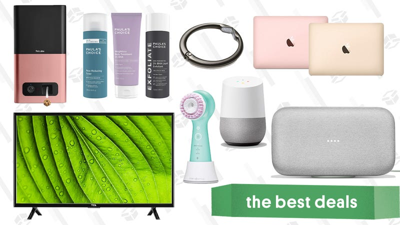 Illustration for article titled Tuesday's Best Deals: MacBooks, Google Home, Paula's Choice, and More