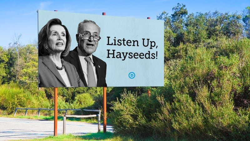 Illustration for article titled Democrats Launch New 'Listen Up, Hayseeds' Campaign To Connect With Rural Voters