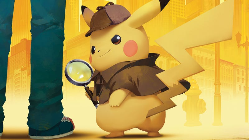 Illustration for article titled It's hard not to fall for the coffee-drinking, jazz-loving Detective Pikachu