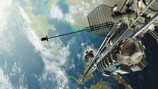 Illustration for article titled Why we'll probably never build a space elevator