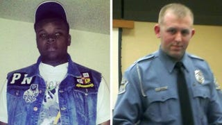 Shooting victim Michael Brown and Ferguson police Officer Darren Wilson.Facebook