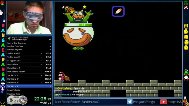A Super Mario World speedrunner beat the whole game while