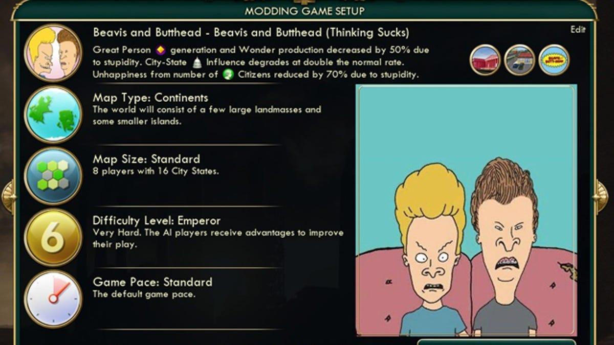 There's A Beavis & Butt-Head Mod For Civilization V  It's Brilliant