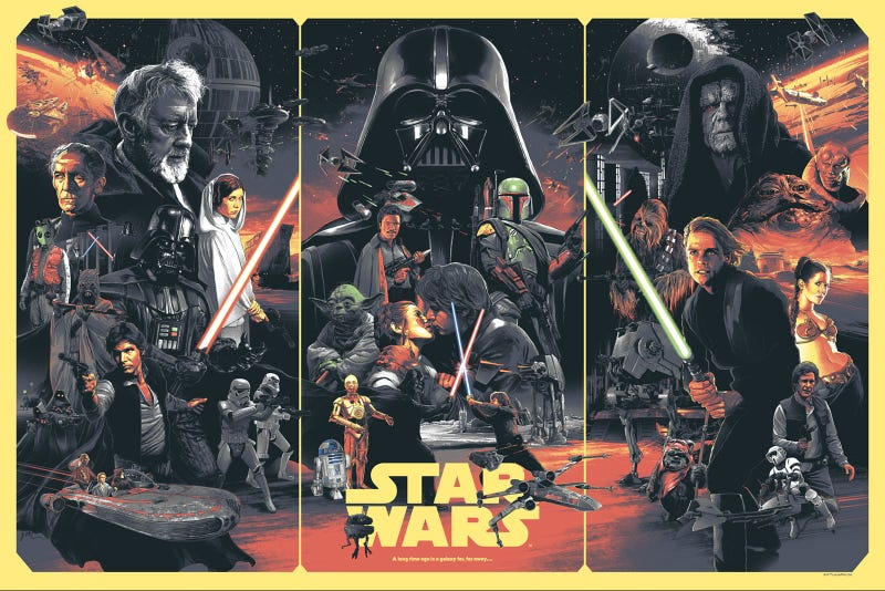 Illustration for article titled This New Star Wars Poster Brings Together The Best Of Franchise History
