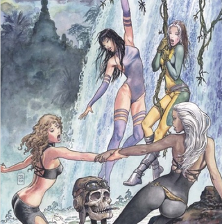Illustration for article titled A cheeky interpretation of the X-Ladies' cheek-baring adventure