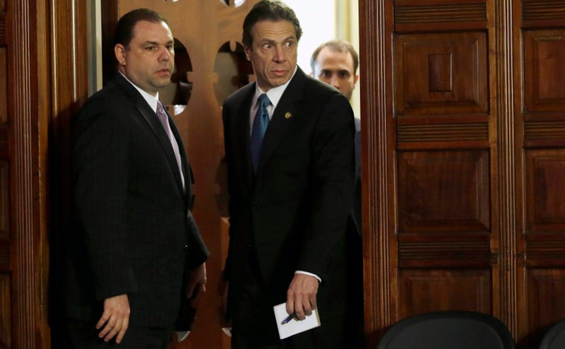 Joseph Percoco and Andrew Cuomo in happier days. Photo: AP