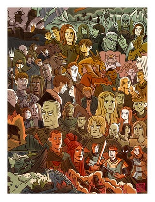 Illustration for article titled Even in comic form, I want to slap Joffrey.