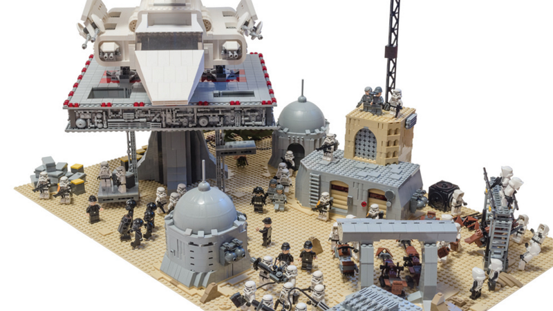 Illustration for article titled Imperial Shuttle Oversees The Operation At LEGO Tatooine Base