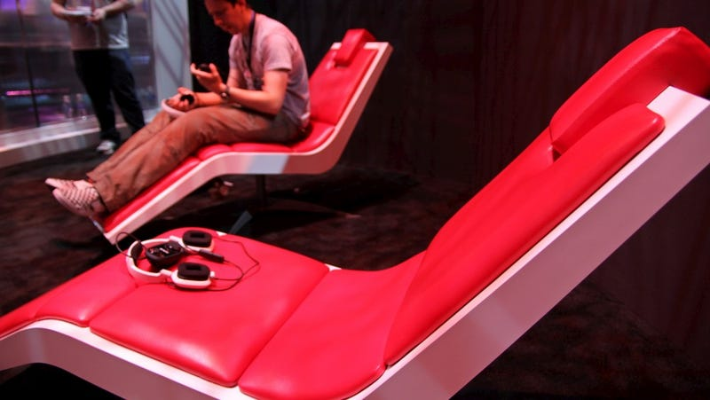 Illustration for article titled This is the Animus Chair Ubisoft Put Me in at E3