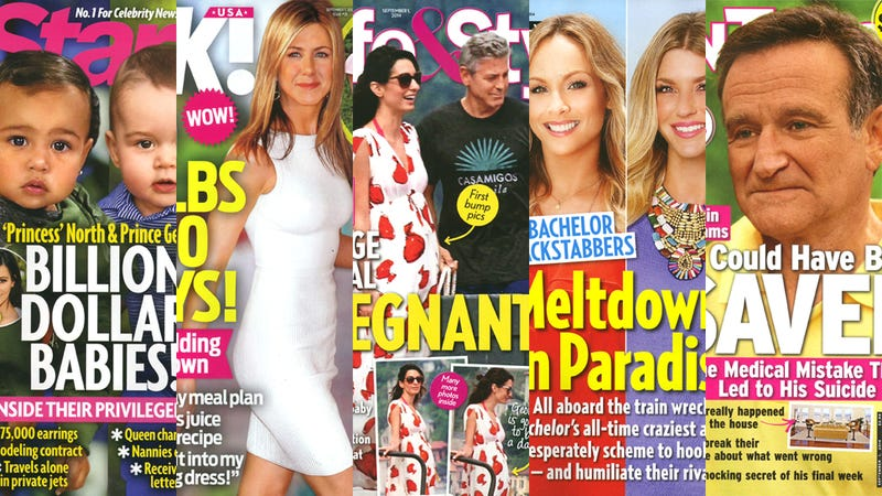Illustration for article titled This Week in Tabloids: George Clooney is Pregnant
