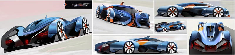 Illustration for article titled Alpine Vision GT sketches show the right direction for LMP car design