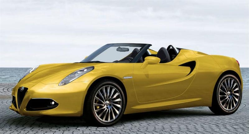 Illustration for article titled Alfa Romeo 4C Spider concept to be revealed at the Geneva auto show