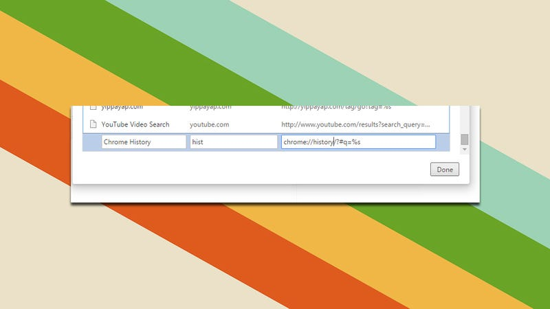 Quickly Search Just Chrome Bookmarks or History with Custom Searches