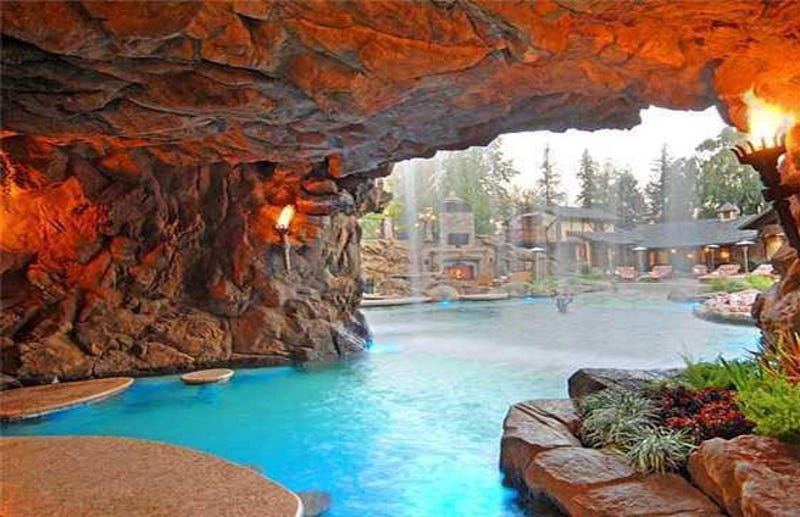 from the playboy mansion to yolo estate the lure of backyard grottos