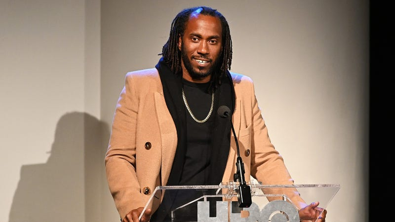 Director Rashid Johnson speaks on stage before HBO's 'Native Son' screening at Guggenheim Museum on April 1, 2019 in New York City.