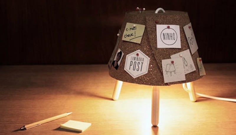 Illustration for article titled A Cute Lamp That's Also a Bulletin Board