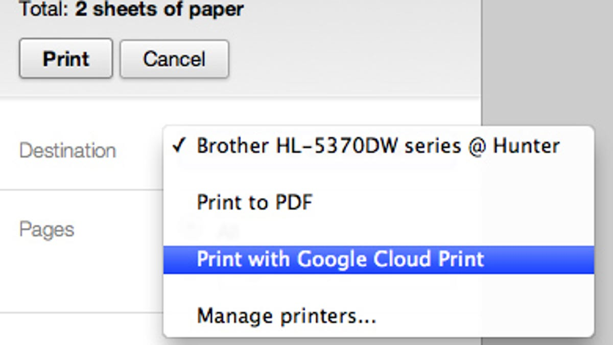 Google Cloud Print: It's Actually Awesome, and Here's How to Set It Up