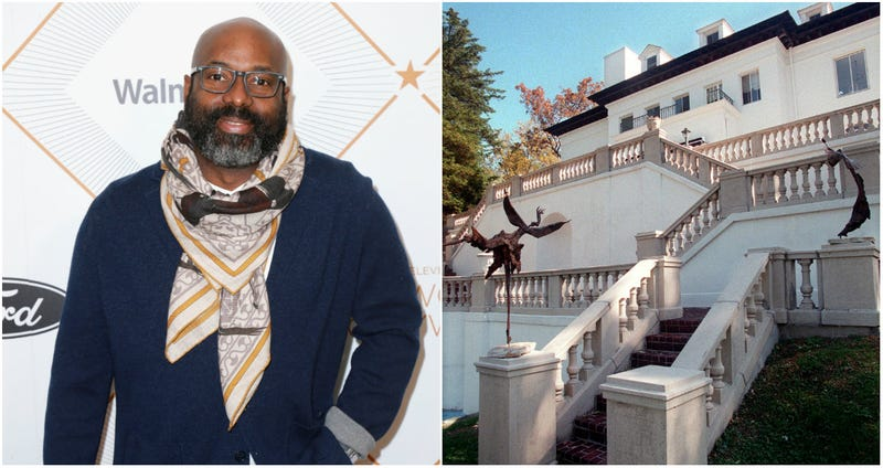 Richelieu Dennis, founder and chairperson of Essence Ventures, attends the 2018 Essence Black Women In Hollywood Oscars Luncheon on March 1, 2018 in Beverly Hills, California; the rear view of the Villa Lewaro, the mansion of the country's first self-made female millionaire, Madam Walker, is seen Oct. 19, 1998, in Irvington, N.Y.