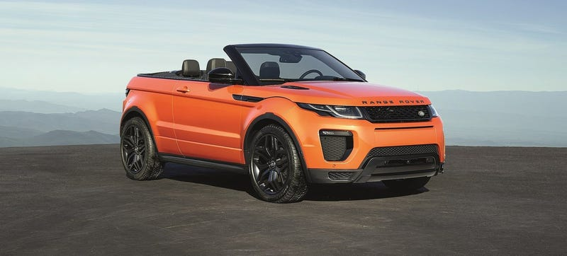 Illustration for article titled 2017 Range Rover Evoque Convertible: This Is It