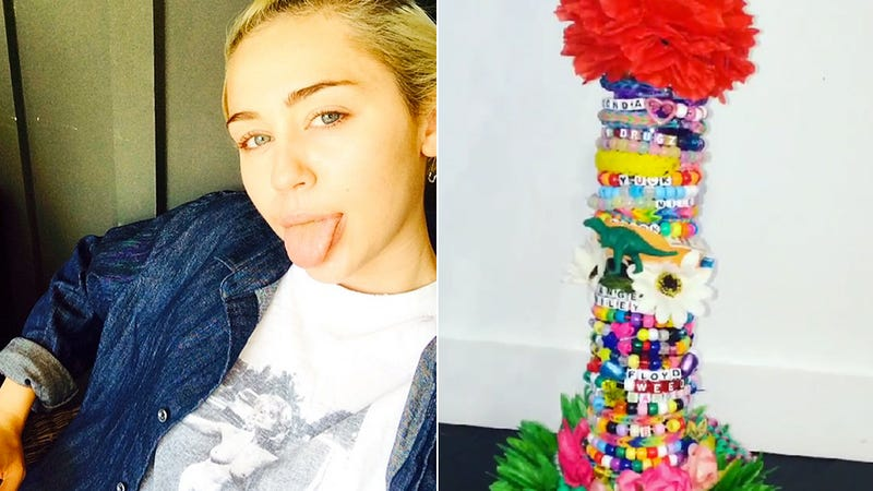 Illustration for article titled Miley Cyrus Uses Her Crafting Skills to Make a Majestic 5-Foot Bong