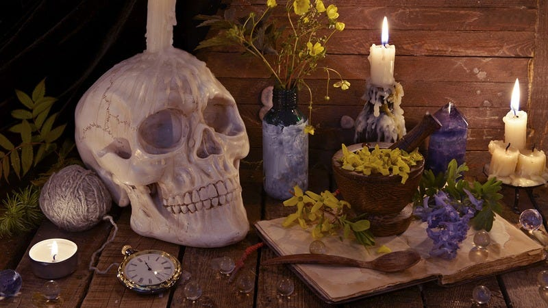 A sacrificial altar.