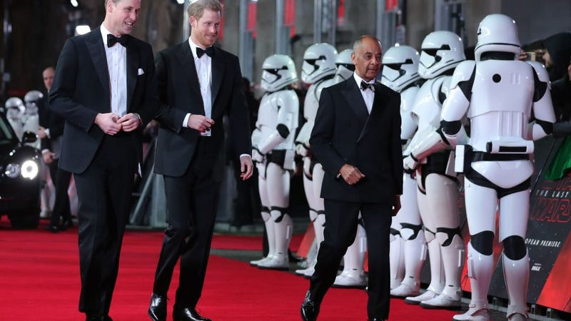 Princes William and Harry turned out to be too tall to be stormtroopers in The Last Jedi