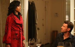 Olivia (Kerry Washington) is back with Jake (Scott Foley), but it's all heat and no warmth.Kevin Estrada/ABC