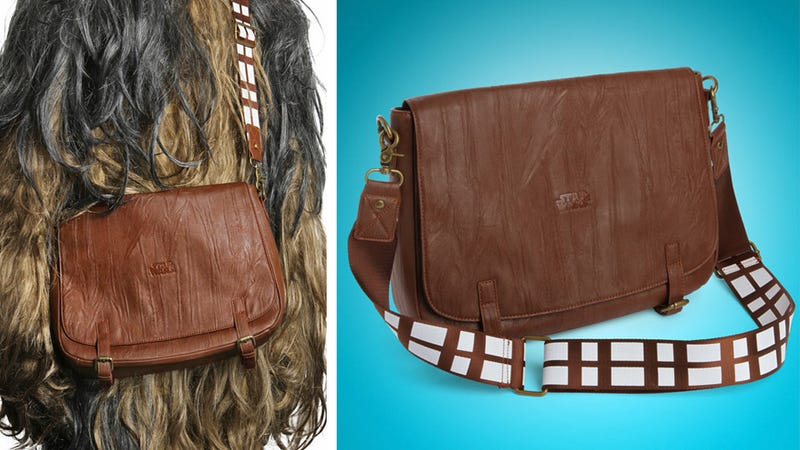 Illustration for article titled Is a Chewbacca Messenger Bag the Best Thing Lucasfilm Ever Licensed?