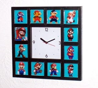 Illustration for article titled This Wall Clock Shows How Mario Has Aged