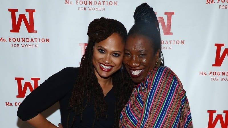 Ava DuVernay, left, poses Tarana Burke, at the Ms. Foundation 30th Annual Gloria Awards at Capitale on May 3, 2018 in New York City.