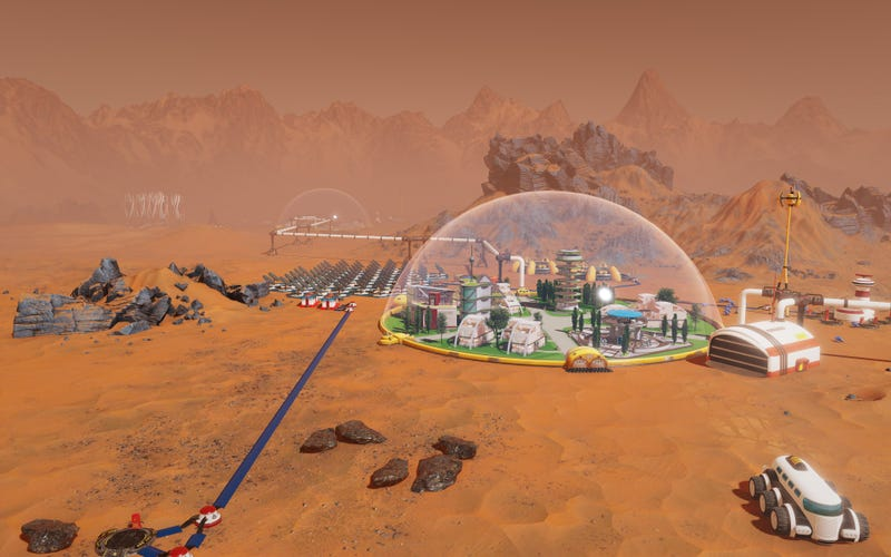 I played 20 minutes of Paradox's new city builder, Surviving Mars, at E3.