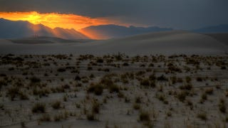 The Last Rays of Sunlight Hit the White Sands