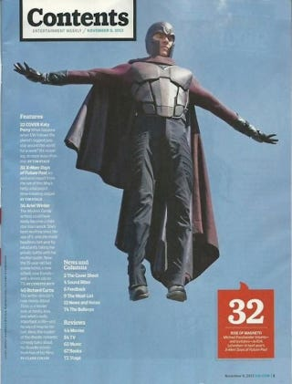 Illustration for article titled Check out Magneto's new duds in X-Men: Days of Future Past