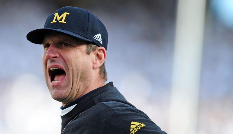 "Illustration for article titled Jim Harbaugh Gives Kirby Smart The ""I Don't Even Know Your Name, Bro"" Treatment"