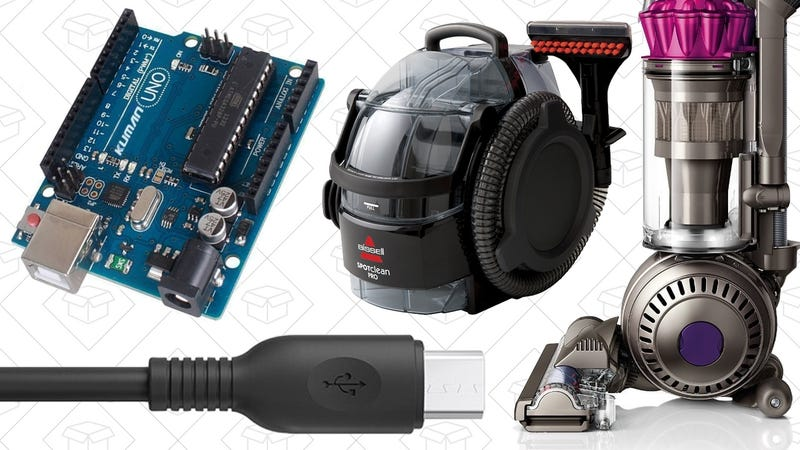 Illustration for article titled Today's Best Deals: Dyson Vacuum, Arduino Starter Kit, Durable USB Cables, and More