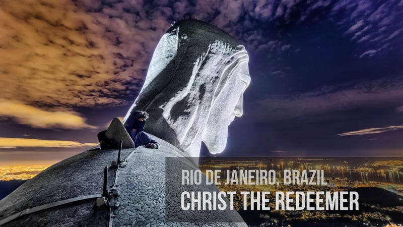 Illustration for article titled Climbing the Christ the Redeemer Statue in Brazil is Totally Crazy