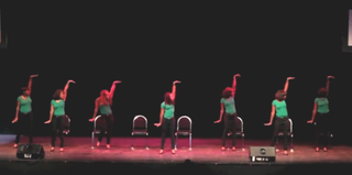 Members of AKA perform at a step show at Howard University. (YouTube)