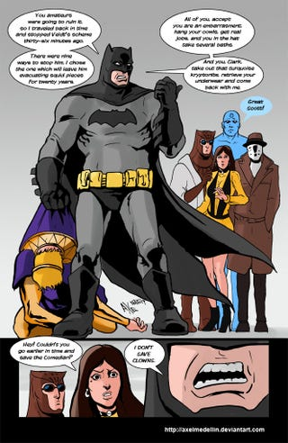 Illustration for article titled What If Batman Had Been In Watchmen?
