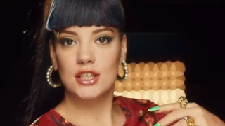 "Lily Allen in her new music video, ""Hard Out Here""YouTube"